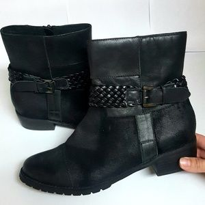 Antelope Braided Leather Ankle Booties